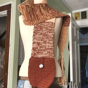 Accessories - Handmade scarf with built in purse/pocket